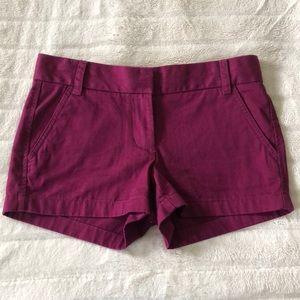 J Crew mulberry chino shorts